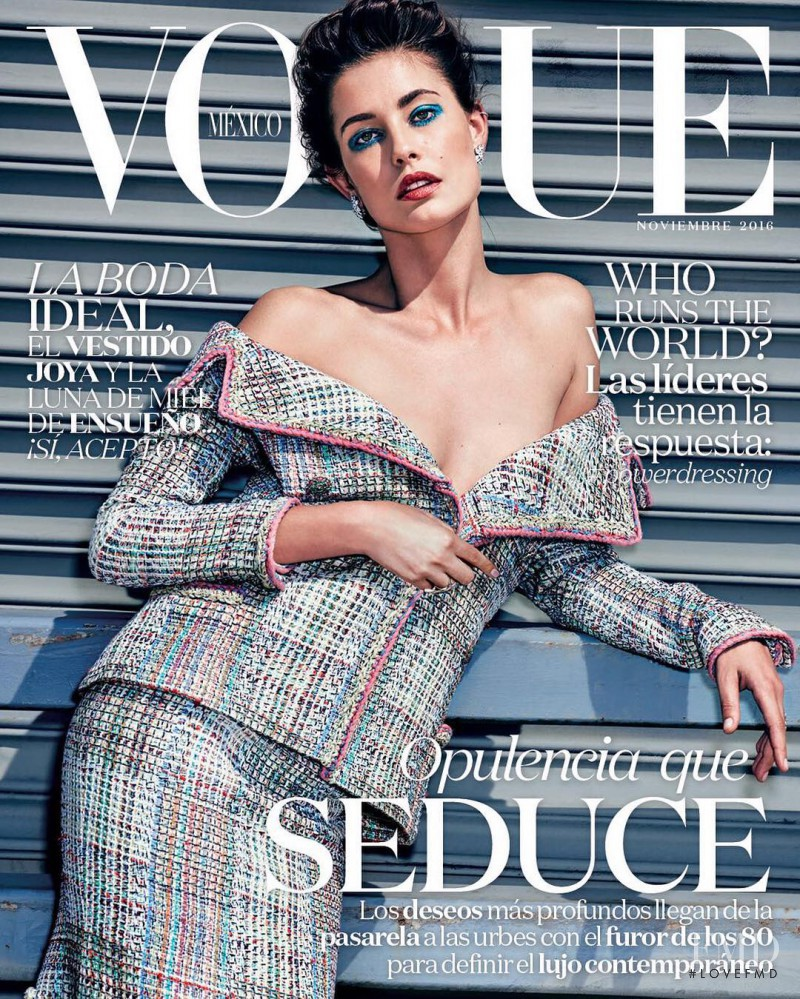 Nadja Bender featured on the Vogue Mexico cover from November 2016