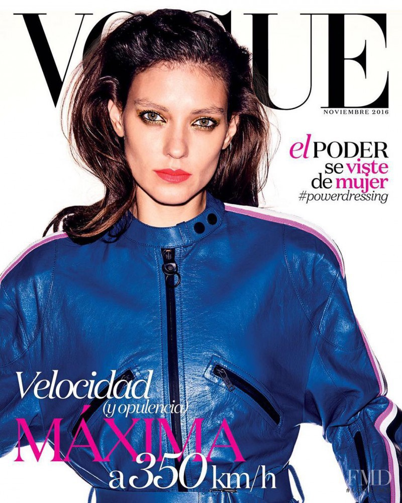 Kati Nescher featured on the Vogue Mexico cover from November 2016