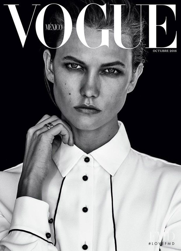 Karlie Kloss featured on the Vogue Mexico cover from October 2016