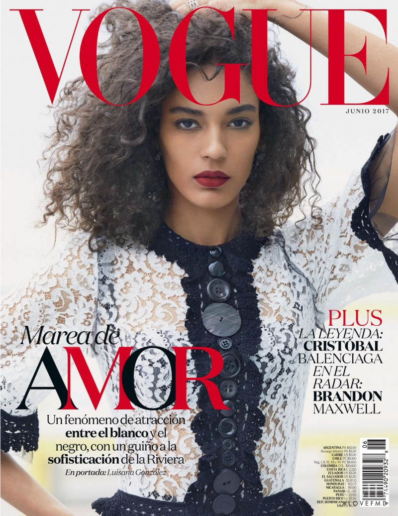 Luisana Gonzalez featured on the Vogue Mexico cover from June 2017