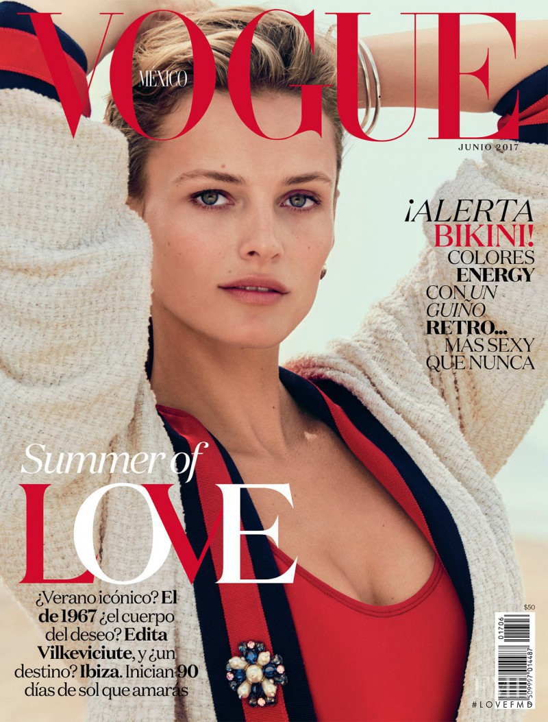Edita Vilkeviciute featured on the Vogue Mexico cover from June 2017