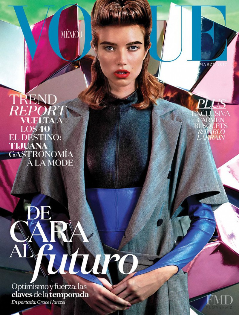 Grace Hartzel featured on the Vogue Mexico cover from March 2017