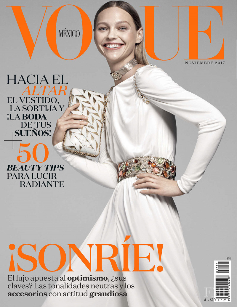 Sasha Pivovarova featured on the Vogue Mexico cover from November 2017