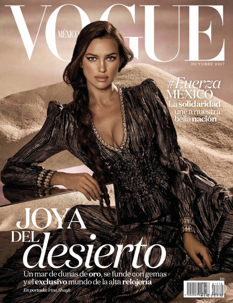 Irina Shayk featured on the Vogue Mexico cover from October 2017