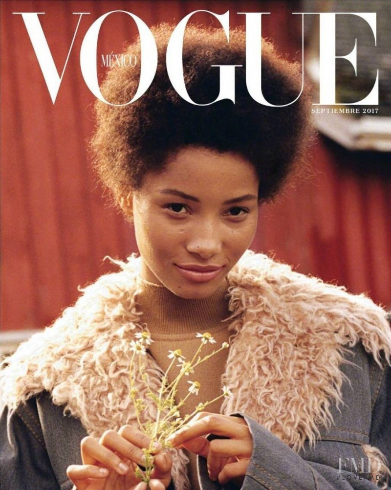 Lineisy Montero featured on the Vogue Mexico cover from September 2017