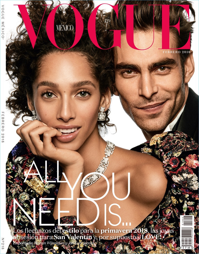 Yasmin Wijnaldum featured on the Vogue Mexico cover from February 2018