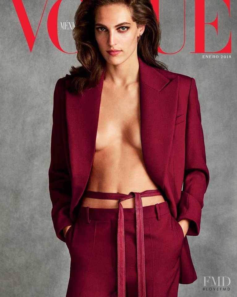 Othilia Simon featured on the Vogue Mexico cover from January 2018