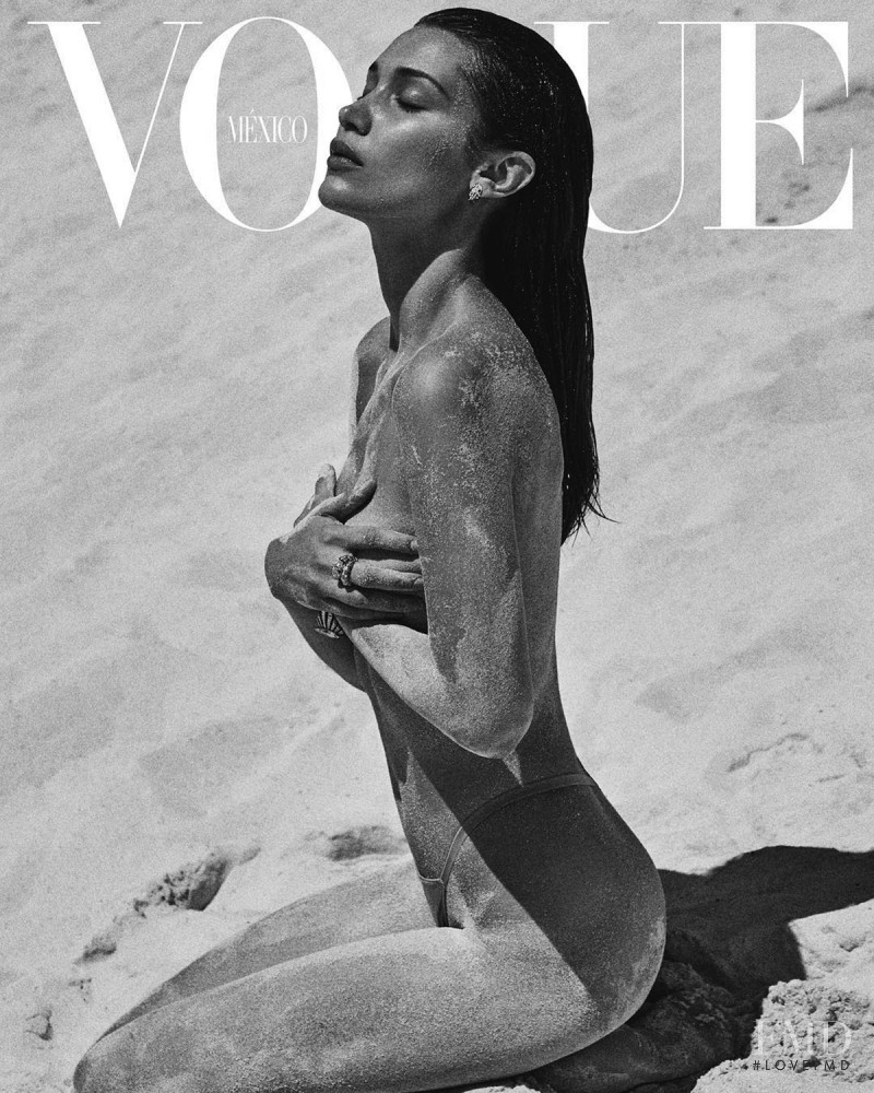Bella Hadid featured on the Vogue Mexico cover from July 2018