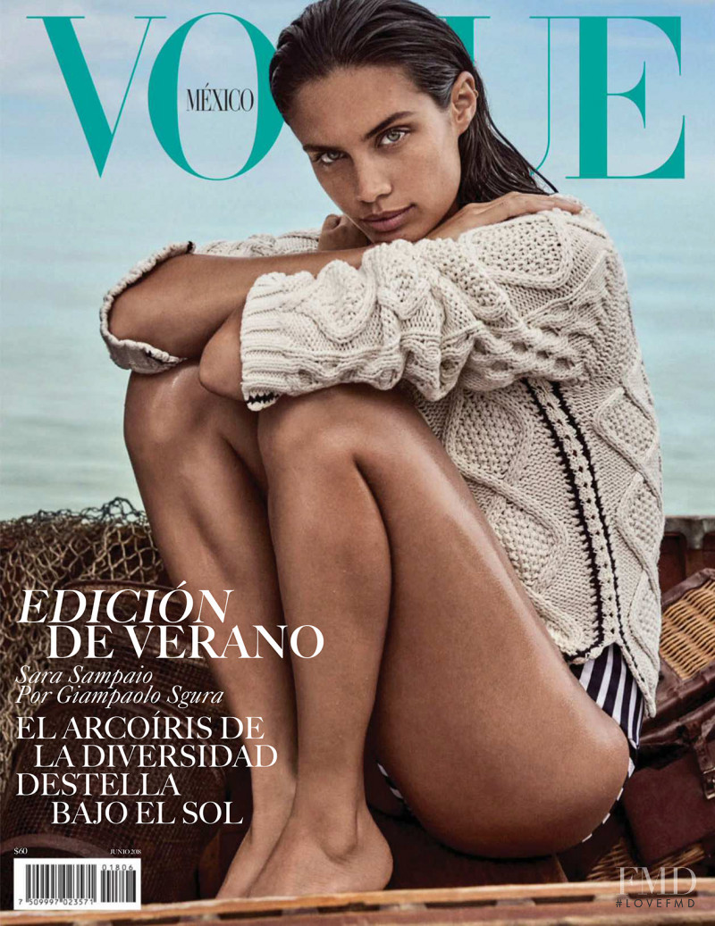 Sara Sampaio featured on the Vogue Mexico cover from June 2018
