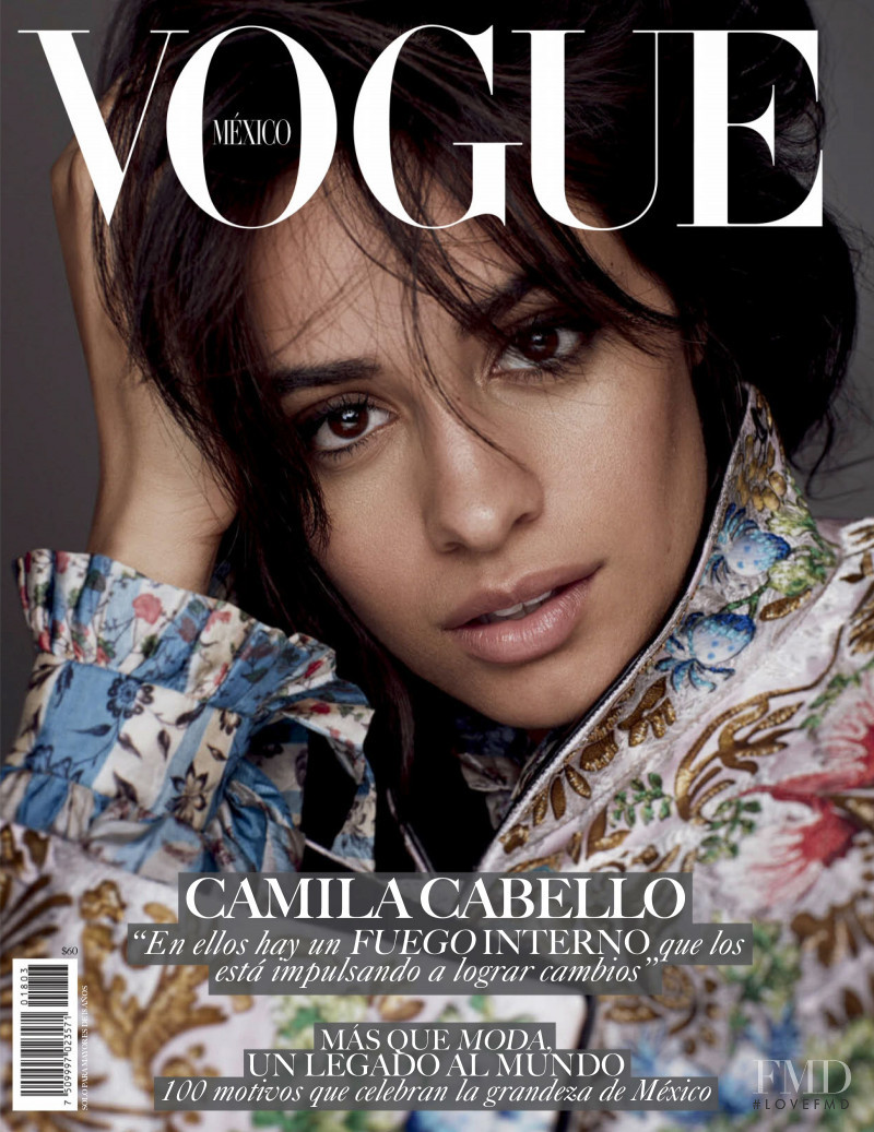 Camila Cabello featured on the Vogue Mexico cover from March 2018