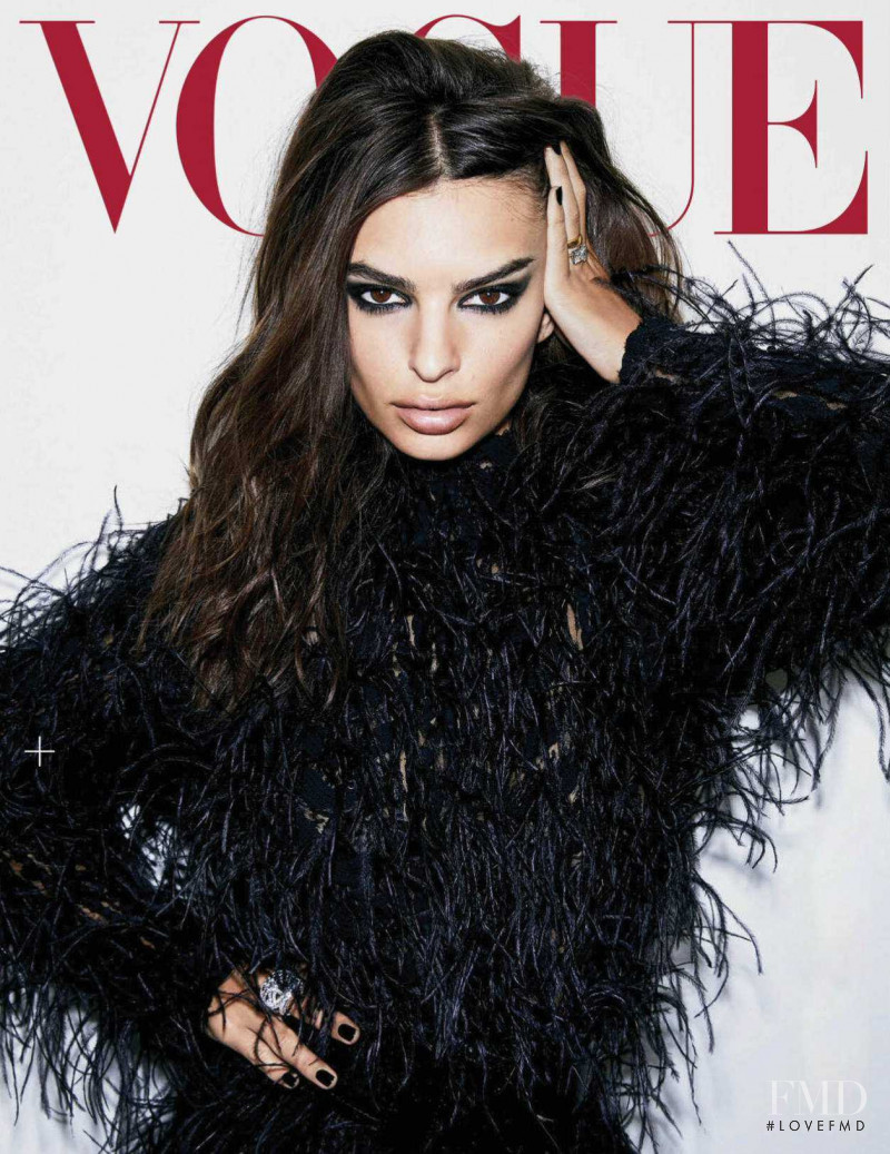 Emily Ratajkowski featured on the Vogue Mexico cover from October 2018