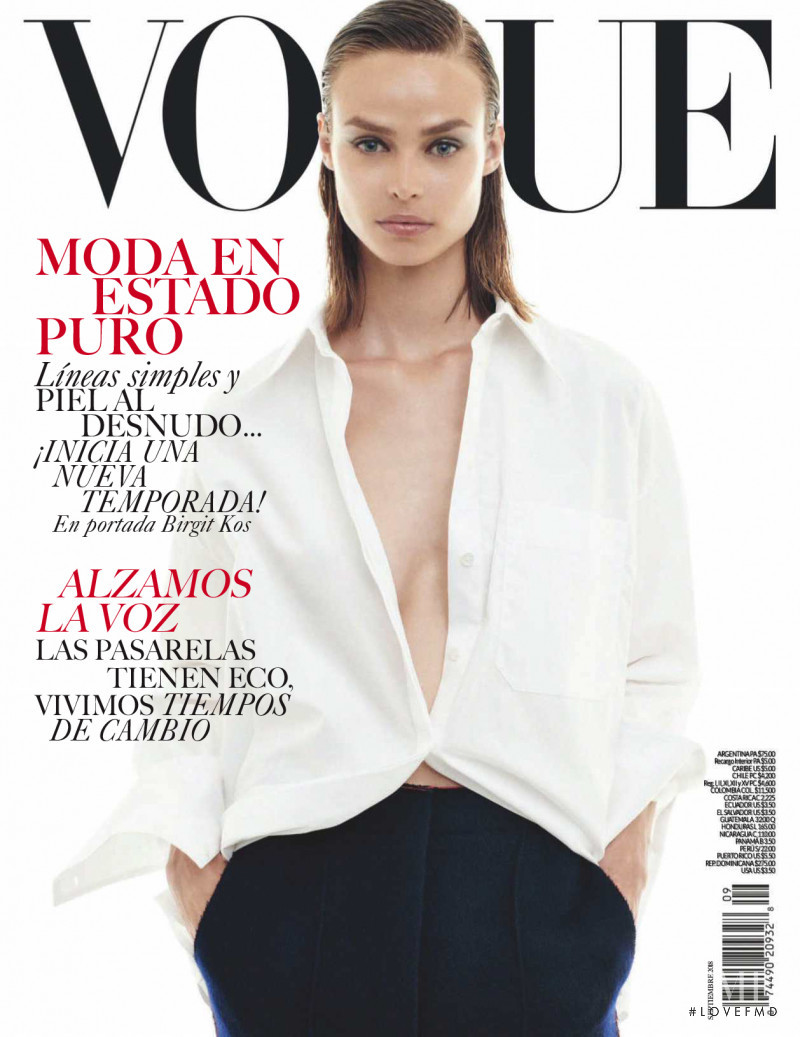 Birgit Kos featured on the Vogue Mexico cover from September 2018