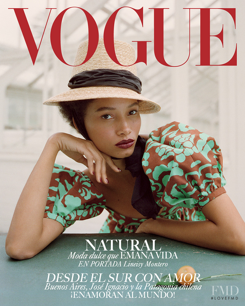 Lineisy Montero featured on the Vogue Mexico cover from February 2019