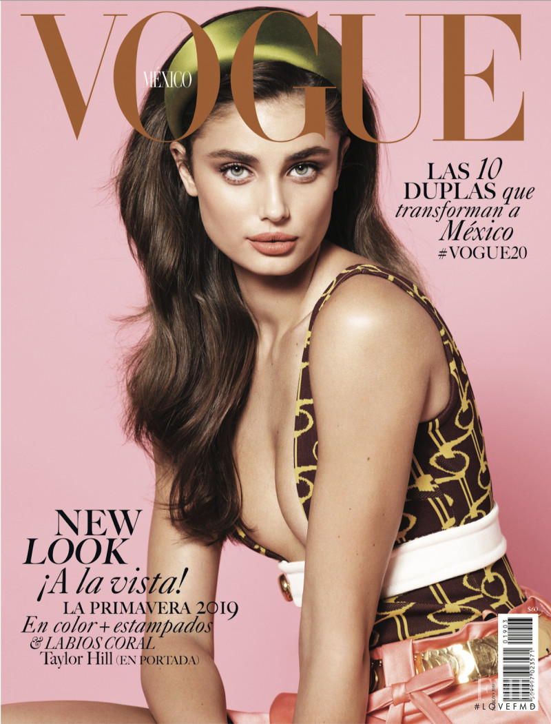 Taylor Hill featured on the Vogue Mexico cover from March 2019