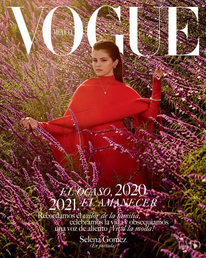 Selena Gomez featured on the Vogue Mexico cover from December 2020