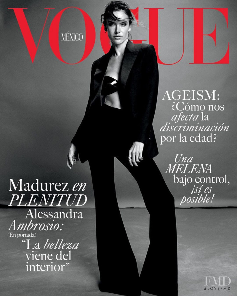 Alessandra Ambrosio featured on the Vogue Mexico cover from August 2021