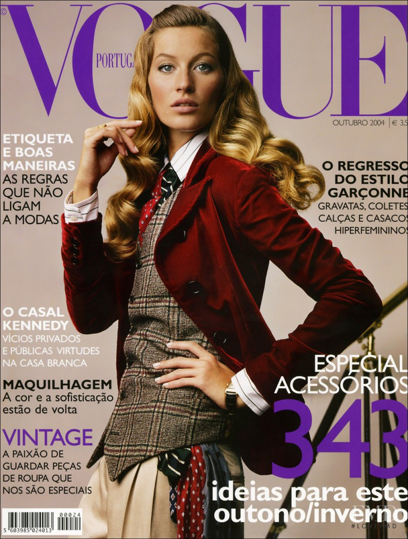 Gisele Bundchen featured on the Vogue Portugal cover from October 2004