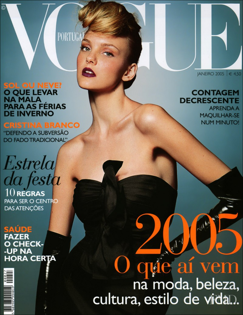 Caroline Trentini featured on the Vogue Portugal cover from January 2005