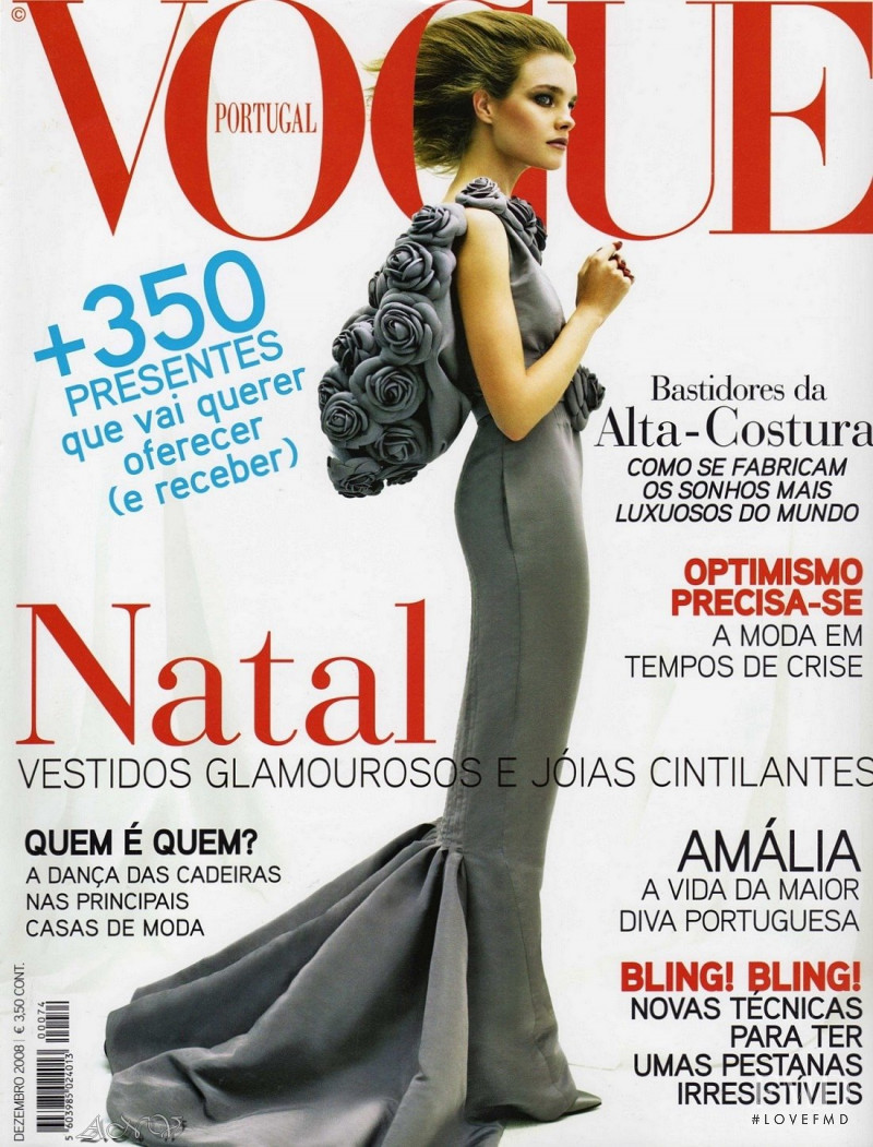 Natalia Vodianova featured on the Vogue Portugal cover from December 2008