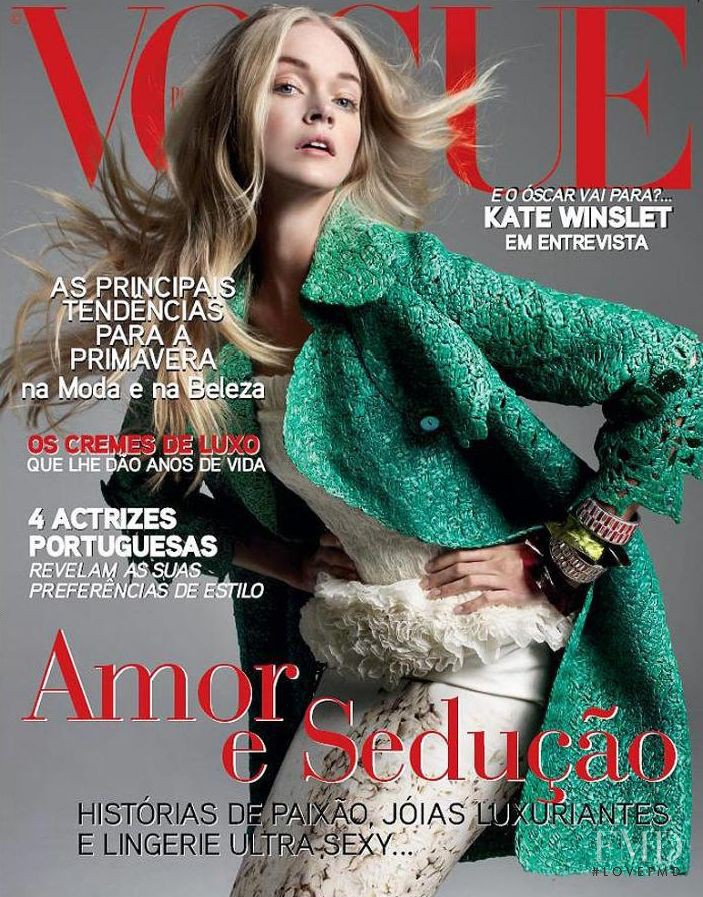 Lindsay Ellingson featured on the Vogue Portugal cover from February 2009