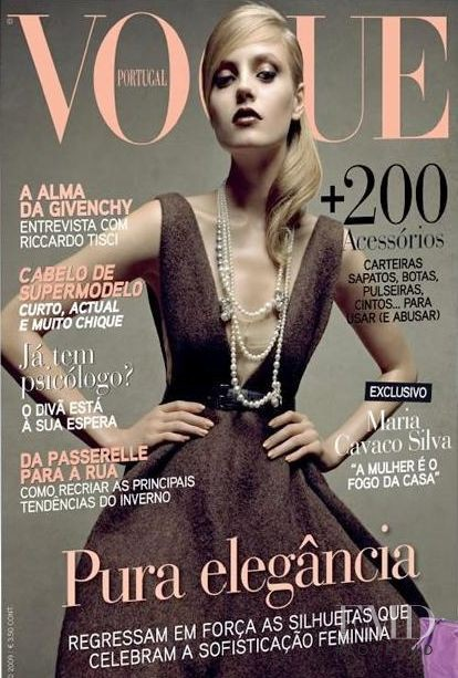 Anna Maria Jagodzinska featured on the Vogue Portugal cover from October 2009