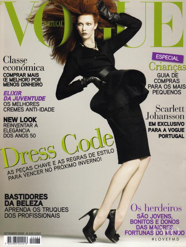 Karlie Kloss featured on the Vogue Portugal cover from September 2009