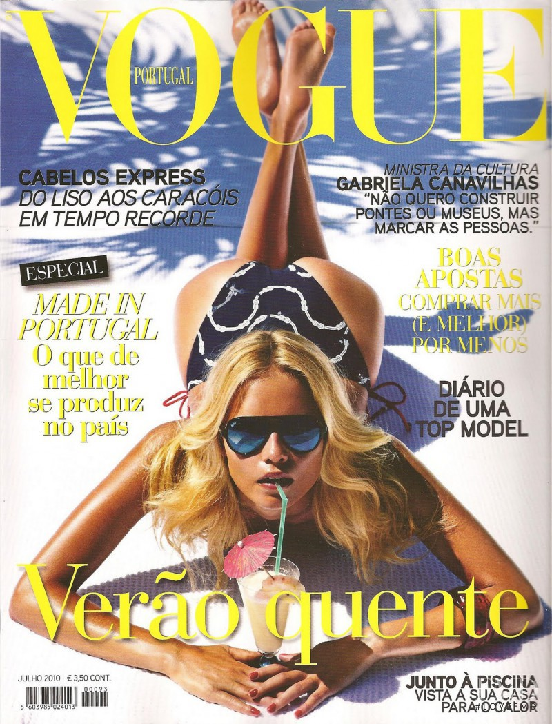 Natasha Poly featured on the Vogue Portugal cover from July 2010