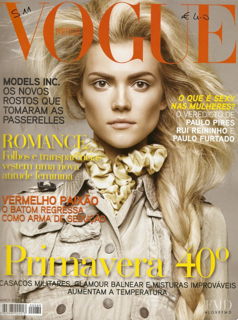 Kasia Struss featured on the Vogue Portugal cover from May 2010