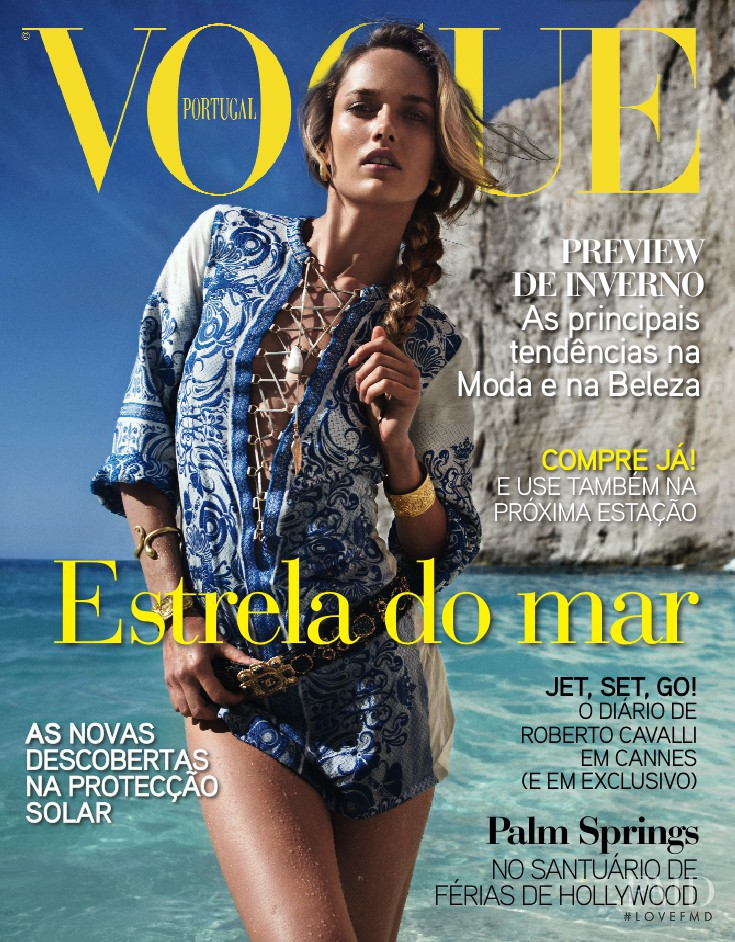 Karmen Pedaru featured on the Vogue Portugal cover from August 2011