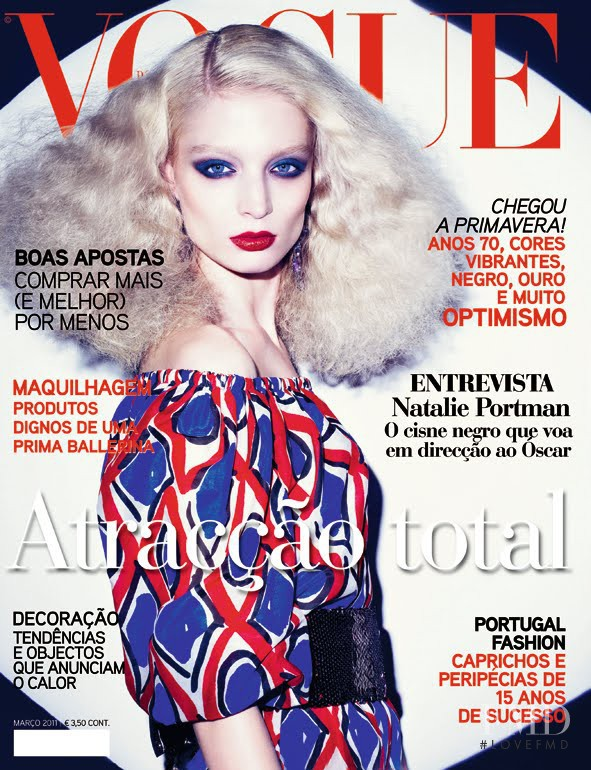 Melissa Tammerijn featured on the Vogue Portugal cover from March 2011