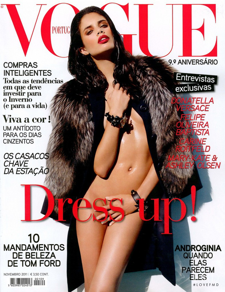 Sara Sampaio featured on the Vogue Portugal cover from November 2011