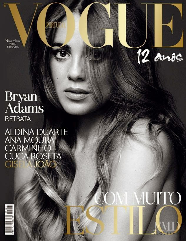 Gisela Joac featured on the Vogue Portugal cover from November 2011