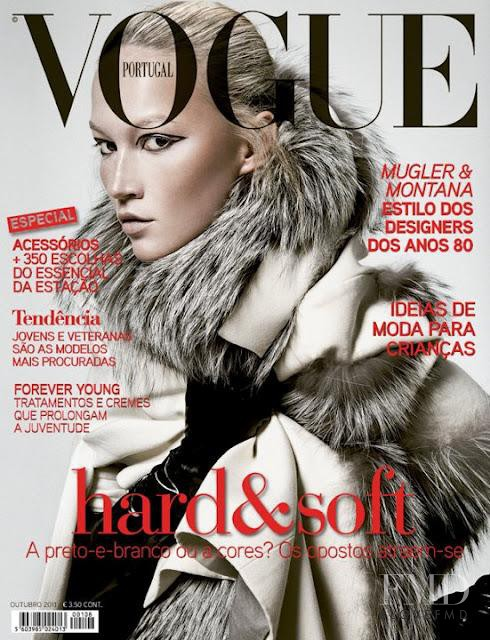 Elena Sudakova featured on the Vogue Portugal cover from October 2011
