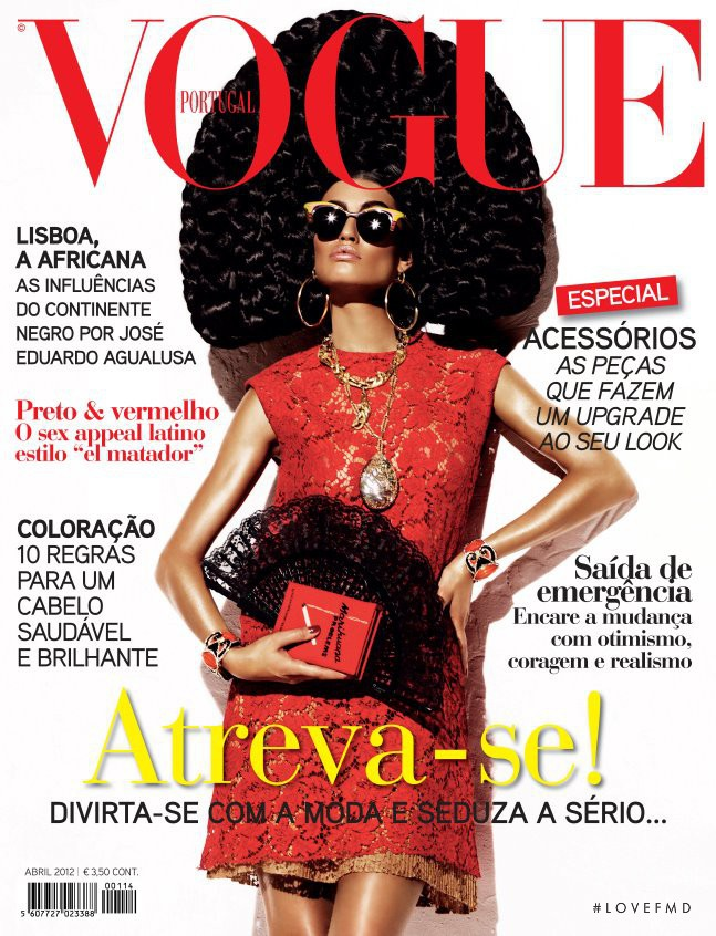 Bianca Balti featured on the Vogue Portugal cover from April 2012