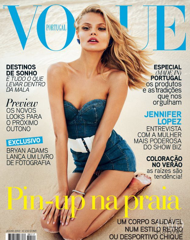 Magdalena Frackowiak featured on the Vogue Portugal cover from July 2012