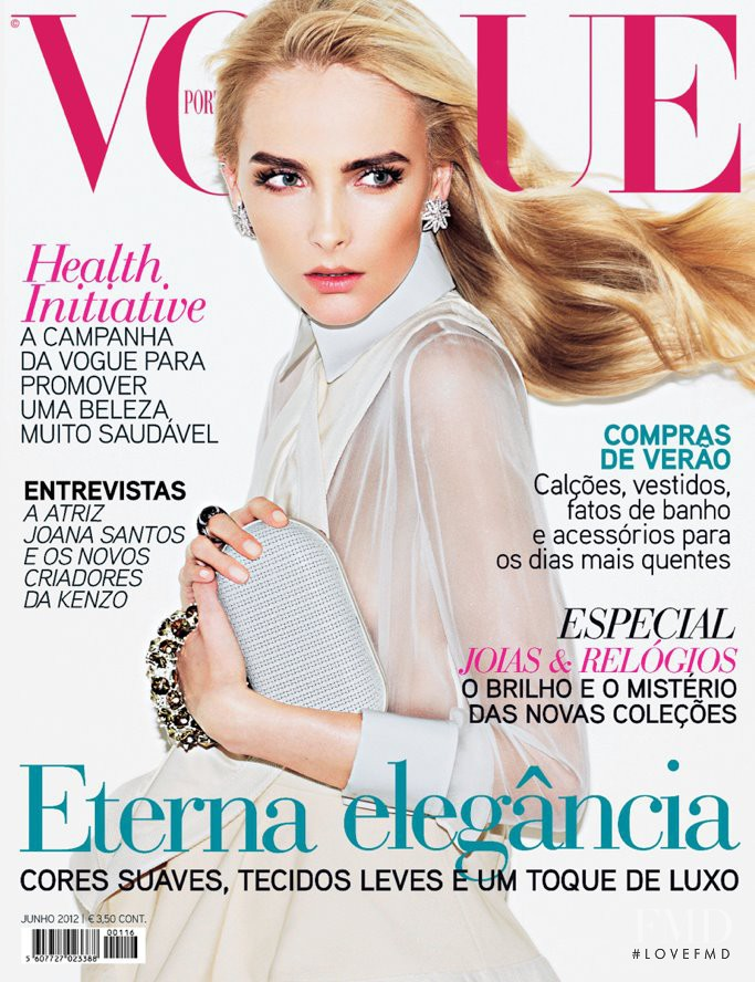 Snejana Onopka featured on the Vogue Portugal cover from June 2012