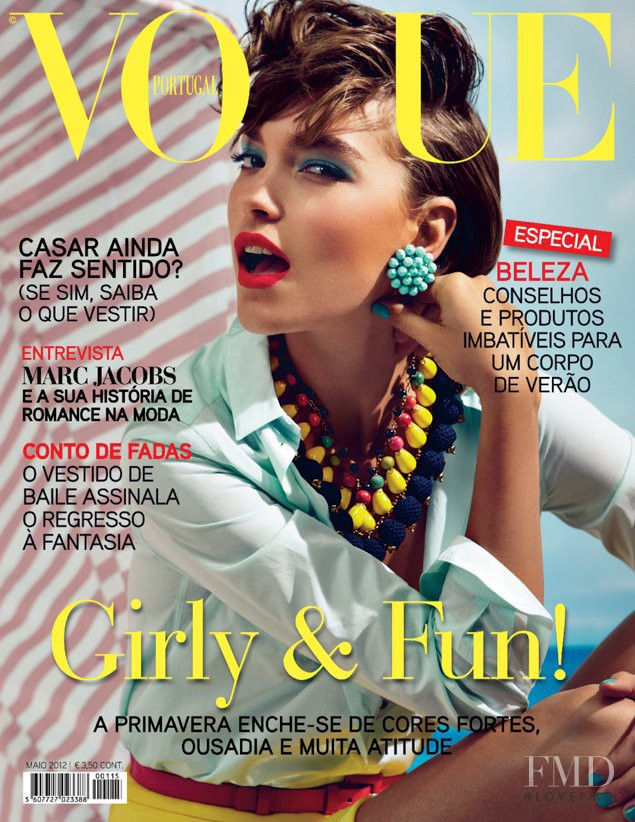 Arizona Muse featured on the Vogue Portugal cover from May 2012