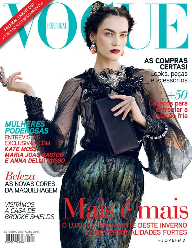 Patrycja Gardygajlo featured on the Vogue Portugal cover from September 2012