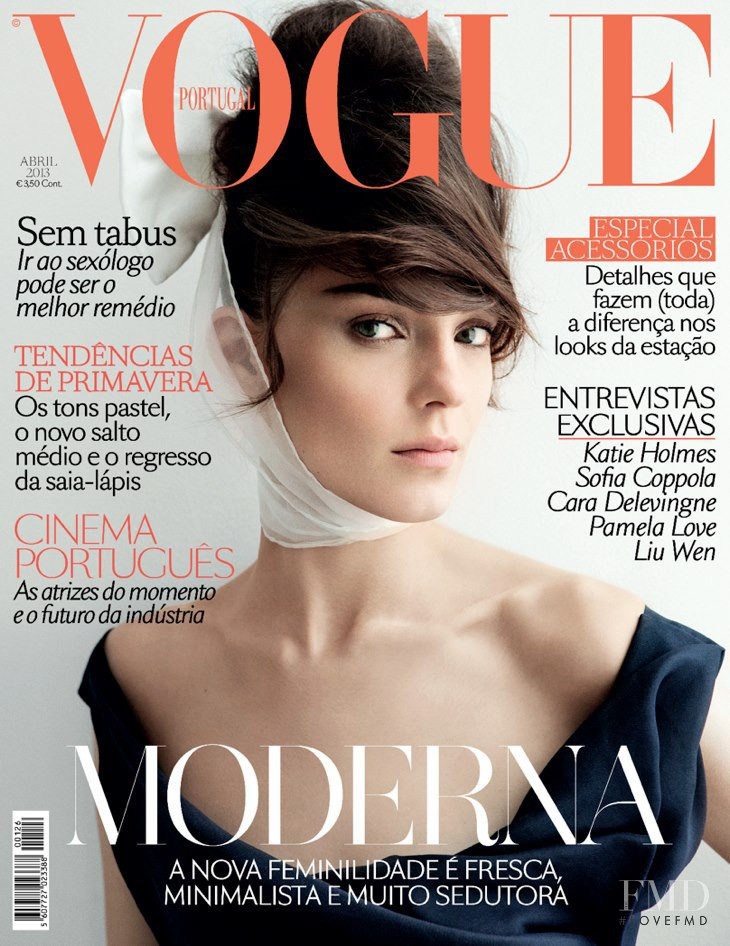 Kati Nescher featured on the Vogue Portugal cover from April 2013