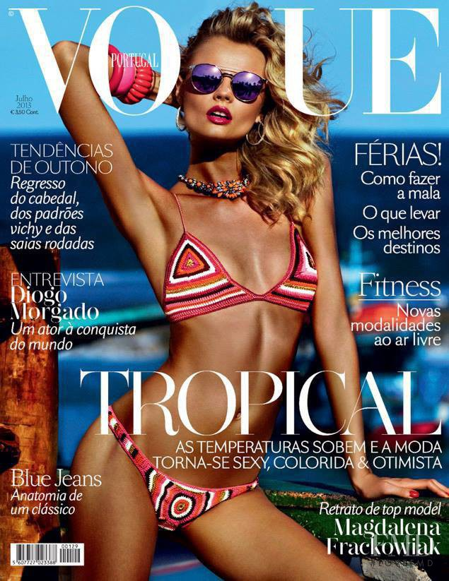 Magdalena Frackowiak featured on the Vogue Portugal cover from July 2013