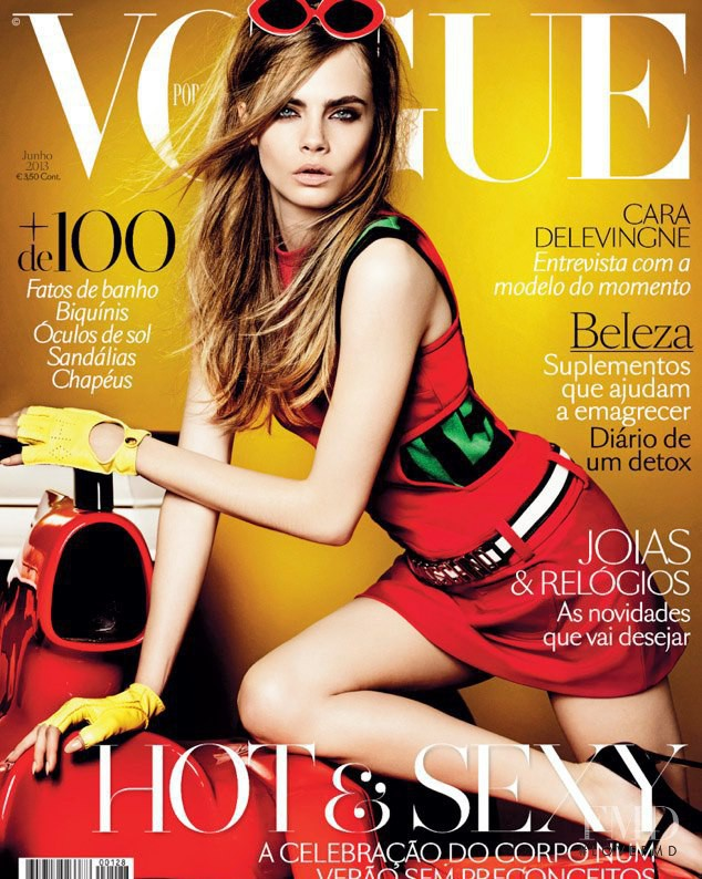 Cara Delevingne featured on the Vogue Portugal cover from June 2013