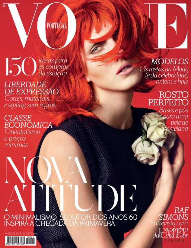 Iris Egbers featured on the Vogue Portugal cover from March 2013