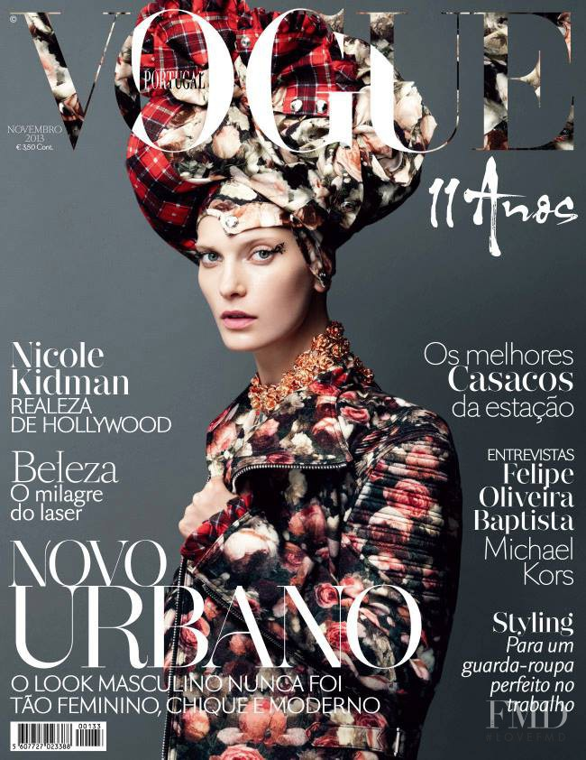Valerija Kelava featured on the Vogue Portugal cover from November 2013