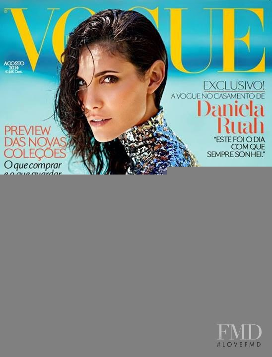 Daniela Ruah featured on the Vogue Portugal cover from August 2014
