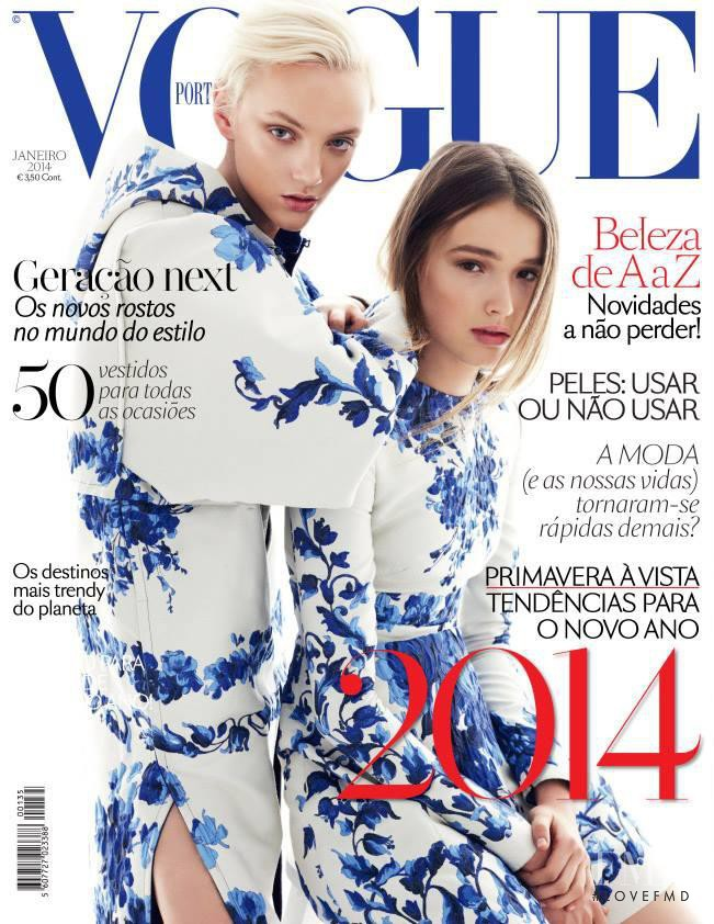Maddison Brown, April Tiplady featured on the Vogue Portugal cover from January 2014