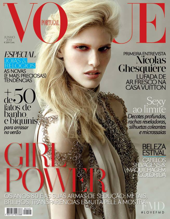 Nikola Trefilova featured on the Vogue Portugal cover from June 2014