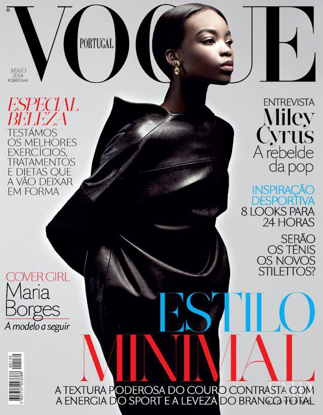 Maria Borges featured on the Vogue Portugal cover from May 2014