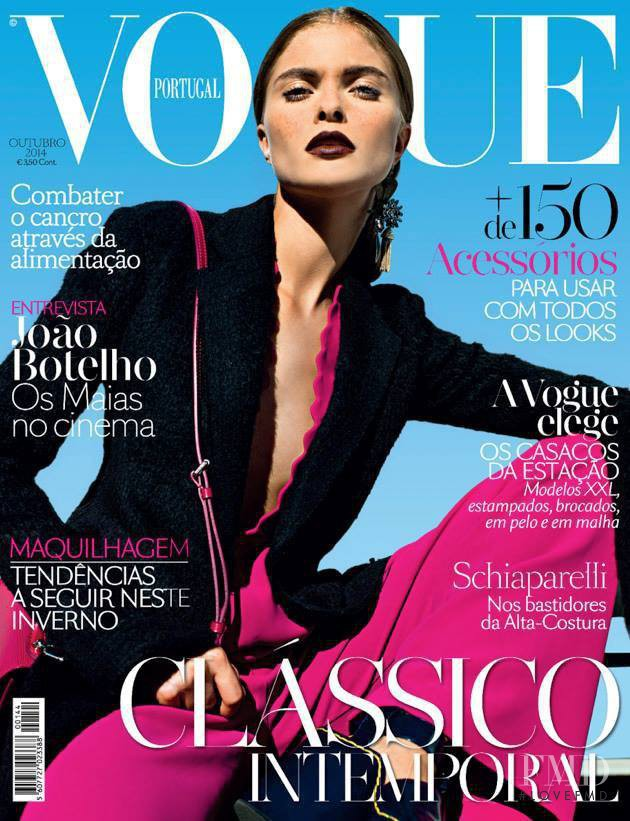 Anna Rudenko featured on the Vogue Portugal cover from October 2014