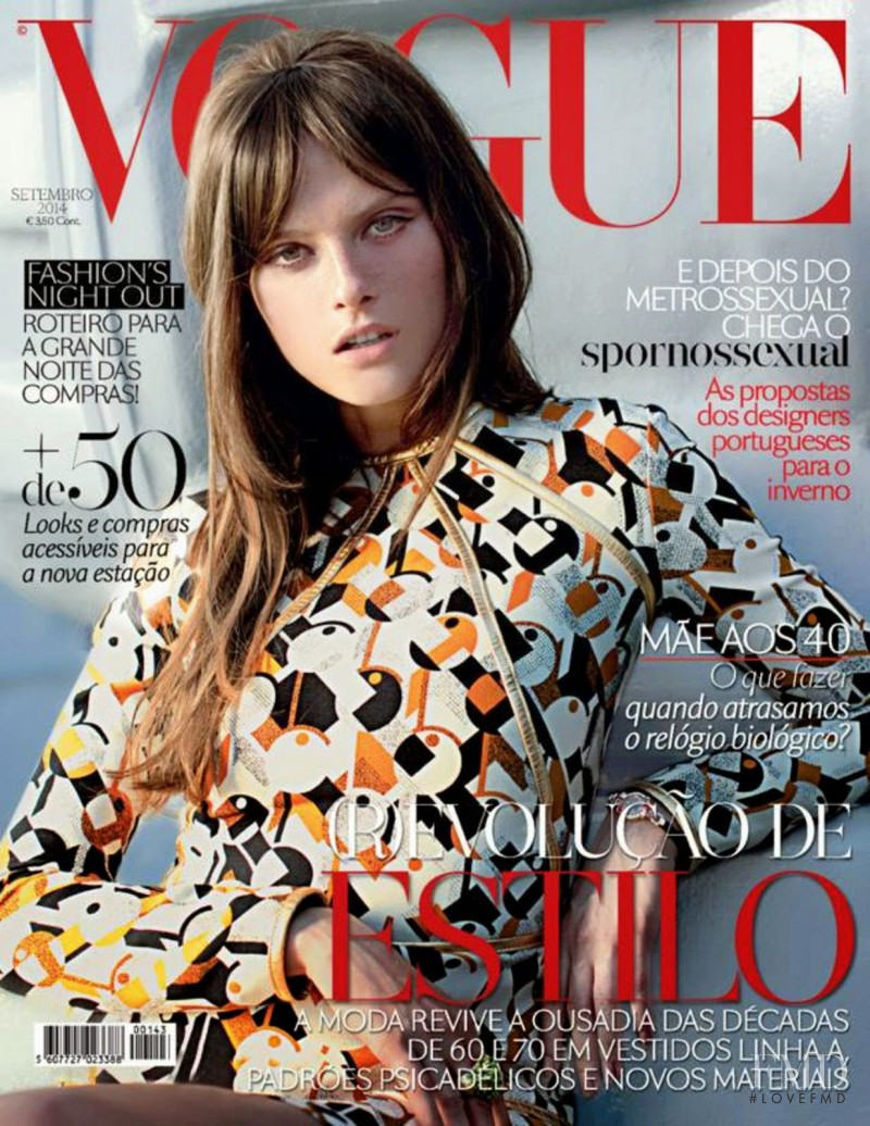 Elena Melnik featured on the Vogue Portugal cover from September 2014