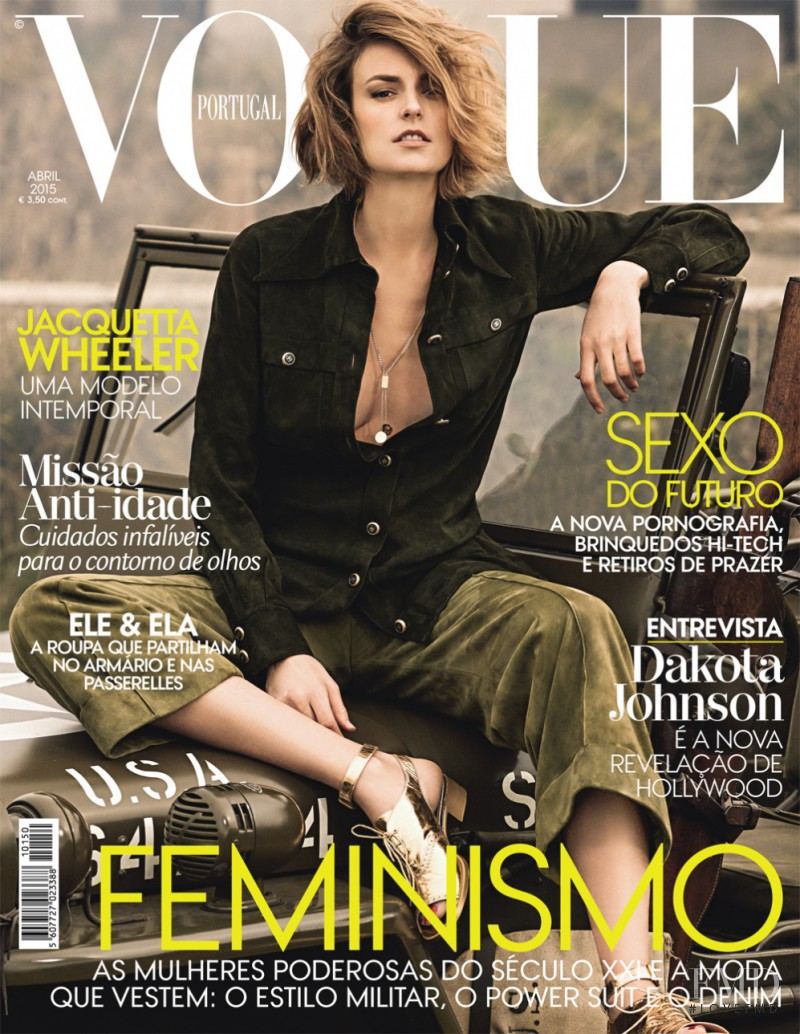 Jacquetta Wheeler featured on the Vogue Portugal cover from April 2015